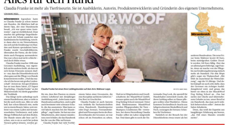 Claudia Franke in der Rheinischen Post